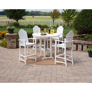 POLYWOOD® Kahala 5 Piece Adirondack Chair Bar Dining Set