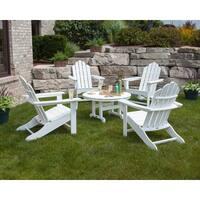 POLYWOOD Kahala 5-piece Adirondack Chair Conversation Set with Round Table