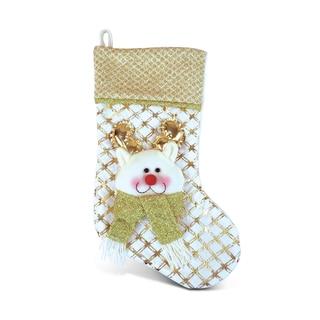 Golden Reindeer Stocking