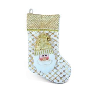 Golden Santa Christmas Stocking