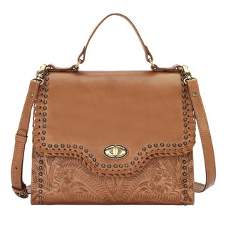 American West Hidalgo Brown Leather Handbag