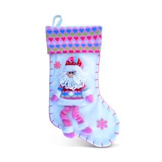 Pink Love Santa Stocking