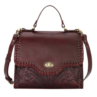 American West Hidalgo Red Leather Handbag