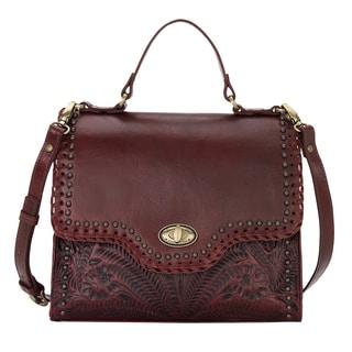 American West Hidalgo Red Leather Handbag