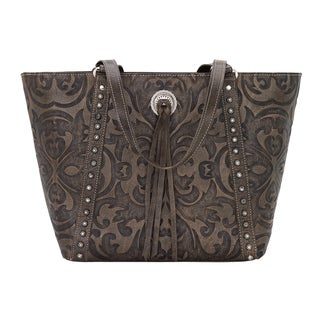 American West Baroque Leather Tote Bag