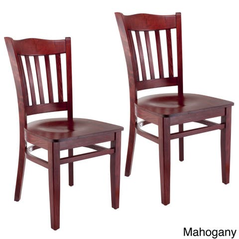 Solid Wood Americana Dining Chairs (Set of 2)