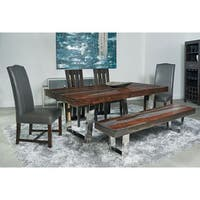 Stainless Steel Base Grayson Dining Bench