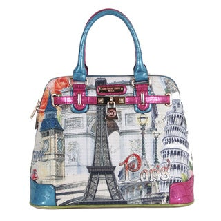Nicole Lee Europe Print Handbag