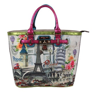 Nicole Lee Europe Print Tote Bag