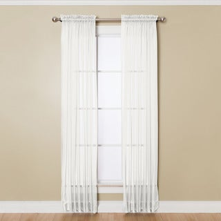 miller curtains angelica 59inch x 63inch rod pocket sheer panel