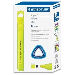 Staedtler Triplus Broad Tip Fluoresct Highlighter - Yellow (10/Box)
