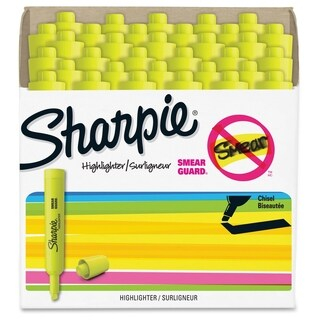 Sharpie Accent Tank Style Highlighters - Yellow (36/Pack)