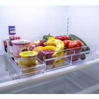 Sorbus Acrylic Clear Plastic Double-drawer Refrigerator Organizer