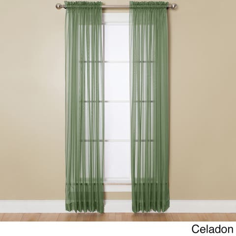 Miller Curtains Angelica 108-inch Rod Pocket Sheer Panel