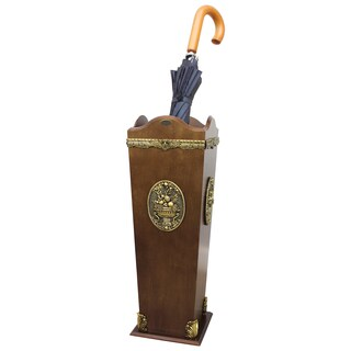 Classic Wood Umbrella Holder Stand