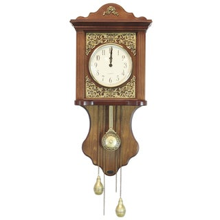 Uniquewise Wood European-style Pendulum Wall Clock