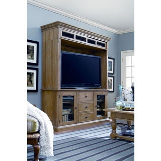 Paula Deen Down Home Oatmeal Entertainment Console and Hutch