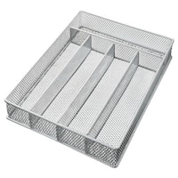 YBM Home Mesh 5-part In-drawer Cutlery, Utensil, and Flatware Organizer