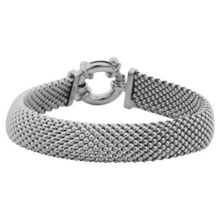 Argento Italia Sterling Silver 11.5-mm Mesh Bracelet (7.5 inches)