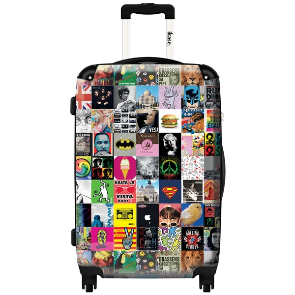 iKase 'Pop Art Patchwork' Check-in 24-inch,Hardside Spinner Suitcase