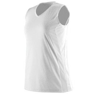 Triumph Girls' White Sleeveless V-neck Jersey T-shirt