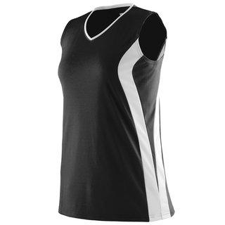 Triumph Girls' Black Jersey Sleeveless V-neck T-shirt