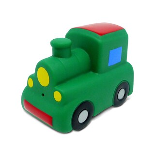 Puzzled Green/Multicolor Train Squirter Bath Toy
