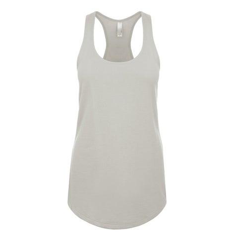 Blast Girl's Silver Polyester Tank Jersey