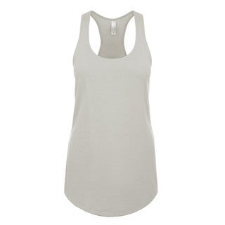 Blast Girl's Silver Polyester Tank Jersey