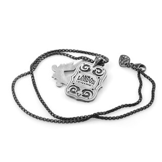 Stephen Webster London Calling Dog Tag Pendant Necklace
