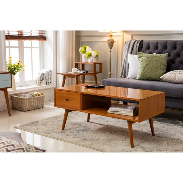 Shop Porthos Home Bowie Mid-Century Coffee Table