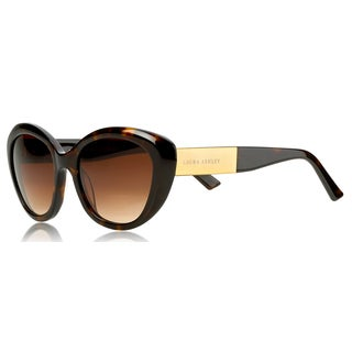 Laura Ashley Ladies Tortoiseshell Cat Eye Sunglasses with Gold Temples