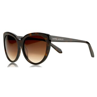 Laura Ashley Women's Classic Tortoise Polarized Cat-eye Sunglasses