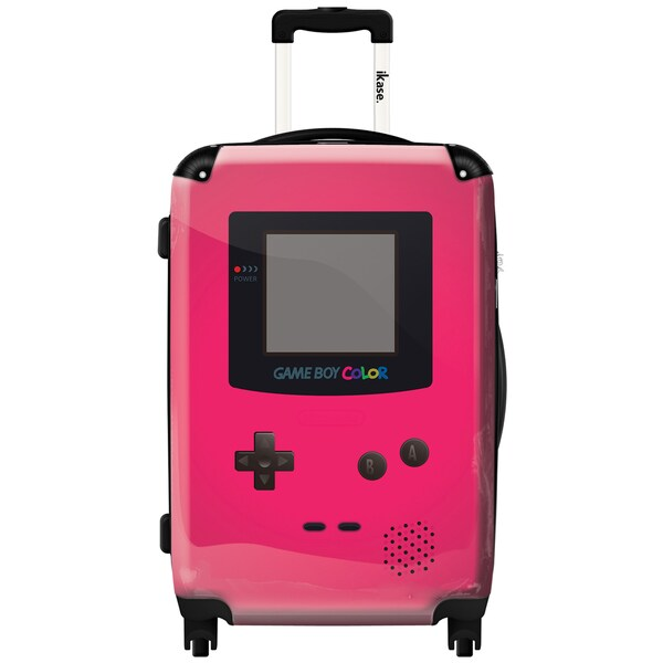 iKase 'Game Boy Pink' Check-in 24-inch,Hardside Spinner Suitcase