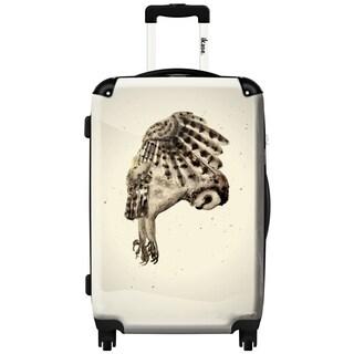 iKase 'Owl 2 Black' 24-inch Fashion Hardside Spinner Suitcase