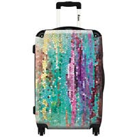 iKase 'Morninghas Broken'  Check-in 24-inch,Hardside Spinner Suitcase