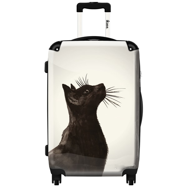 iKase 'Black Cat' Check-in 24-inch,Hardside Spinner Suitcase