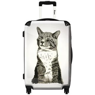 Ikase Hardside Spinner Luggage Black cat 3D