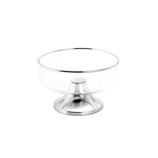 Metal Rim Fruit Bowl With Stand