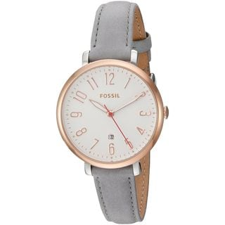 Fossil Women's ES4032 'Jacqueline' Grey Leather Watch