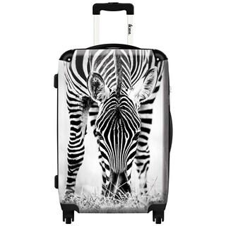 iKase 'Treat Zebras' Check-in 24-inch,Hardside Spinner Suitcase
