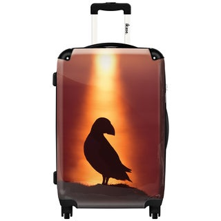 iKase 'Spotlight Puffin' Check-in 24-inch,Hardside Spinner Suitcase