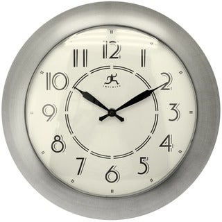 Infinity Instruments Jitter Bug Nickel-finish 14.5-inch Wall Clock
