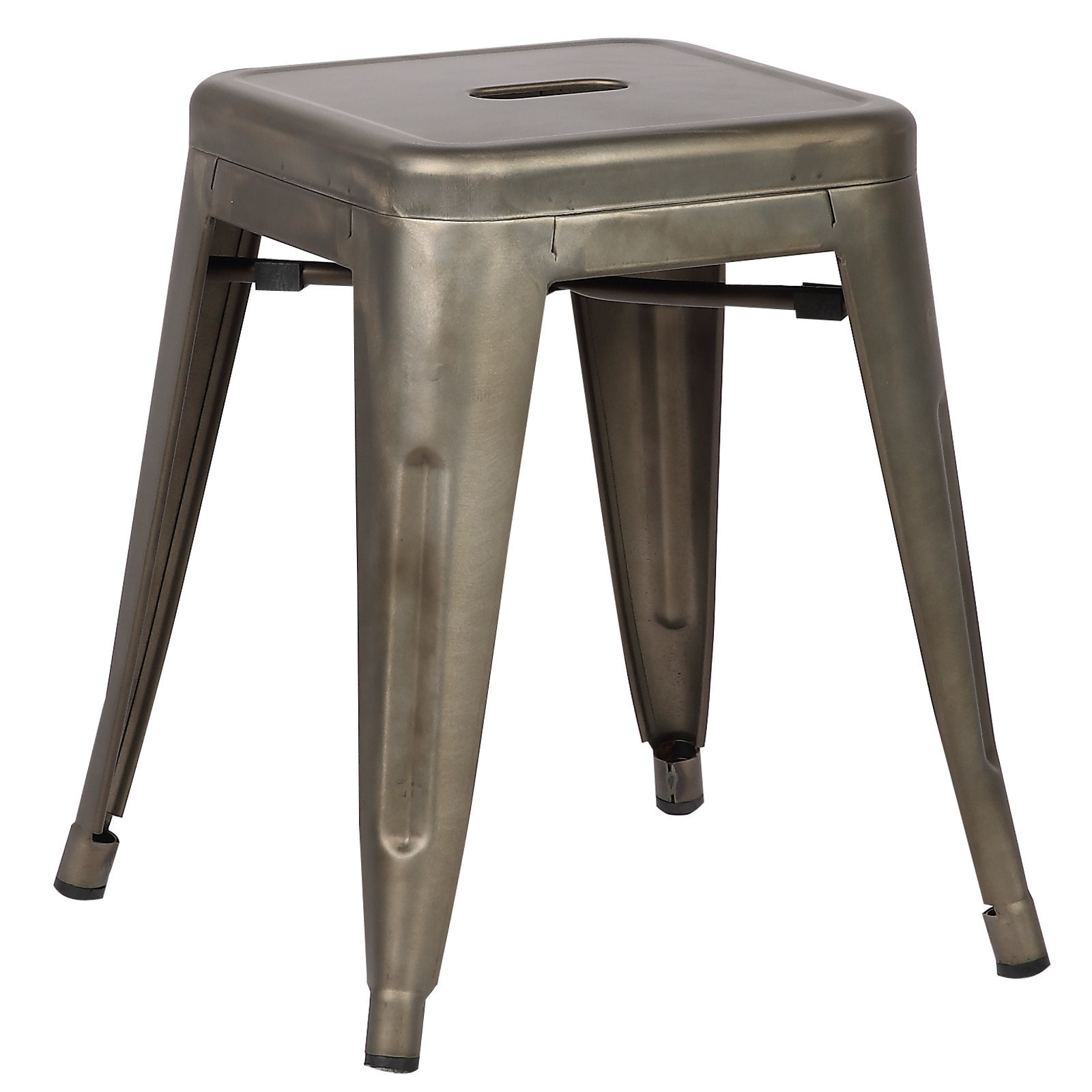 Edgemod Trattoria 18 Inch Table Stool In Bronze (Set Of 4) (2