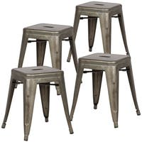 Poly and Bark Trattoria 18-inch Table Stool in Bronze (Set of 4)