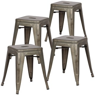 Poly and Bark Trattoria 18-inch Table Stool in Bronze (Set of 4) (2 options available)