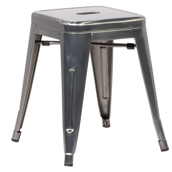 Edgemod Trattoria 18 Inch Table Stool In Polished Gunmetal