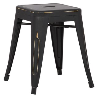 Poly and Bark Trattoria 18-inch Table Stool in Distressed Finish (Set of 4)