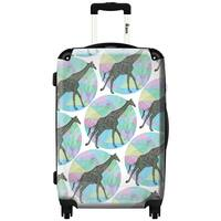 iKase 'Giraffee Pastel Remix' ,Check-in 24-inch .Hardside Spinner Luggage