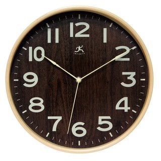 Infinity Instruments Bentwood Small 12-1/2 Inch Wall Clock